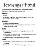 Long A or Proper Noun Scavenger Hunt