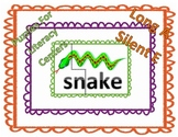 Long A silent E word family puzzles for Literacy Centers