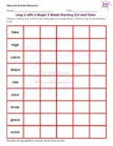 Long A with Magic E Words Rhyming Cut and Paste Worksheet