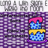 Long A with Silent E Write the Room