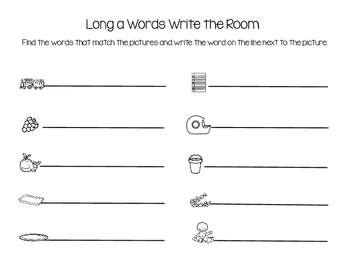 Long A words write the room
