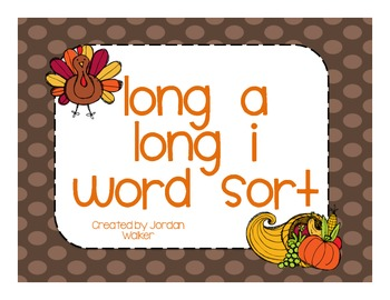 Long A/I Word Sort