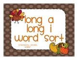 Long A/I Word Sort