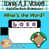 Digital Learning Long A_E Vowel Write