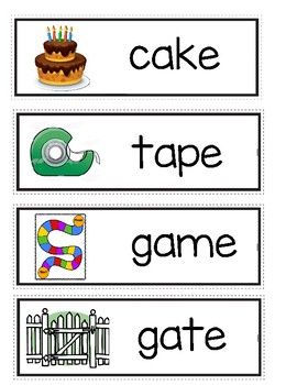 Long Aa Word Wall Cards
