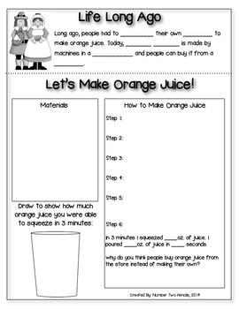 Long Ago Experiment: Let's Make Orange Juice!