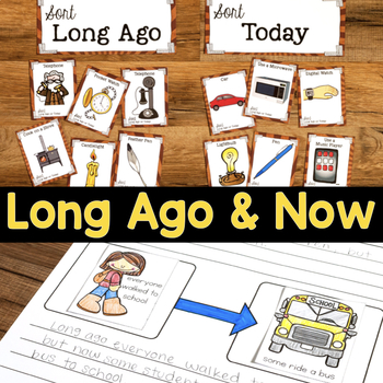 Long Ago & Now   Comparing Past and Present   Long Ago and Today Social Studies