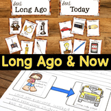 Long Ago & Now   Compare Past & Present   Long Ago & Today Social Studies BUNDLE