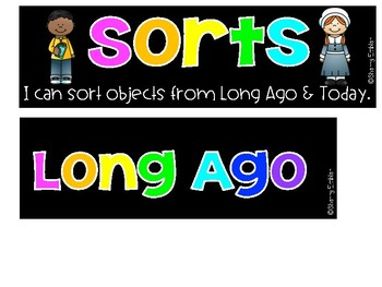 Long Ago & Today (Then & Now) Sort