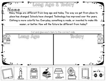 Long Ago and Today - A journey through time INB