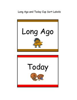 Long Ago and Today Cup Sort
