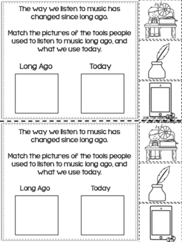 Long Ago and Today Interactive Reader