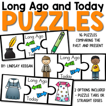 Long Ago and Today Puzzles