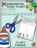 Long Ago and Today Sort Kindergarten Social Studies FREEBIE
