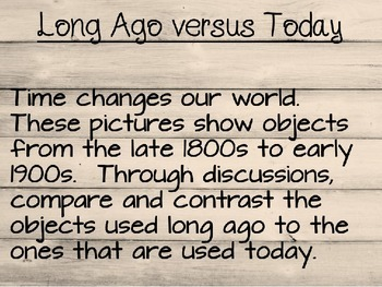 Long Ago versus Today Projectable