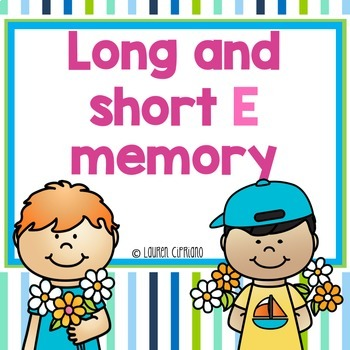 Long And Short E Memory Game