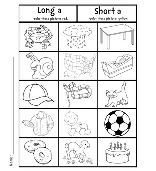 vowel coloring pages - photo#19
