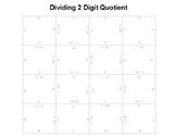 Long Division 1 Digit Divisor 2 digit Quotient Fun Square Puzzle