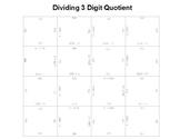 Long Division 1 Digit Divisor 3 Digit Quotient Fun Square Puzzle