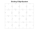 Long Division 1 Digit Divisor 3 Digit Quotient Fun Square Puzzle