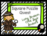Long Division: 1 Digit Divisor - Square Puzzle Quest