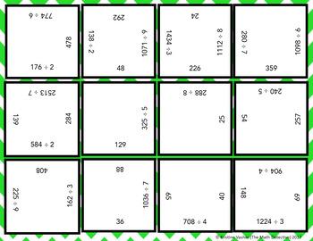 Long Division: 1 Digit Divisor - Square Puzzle Quest