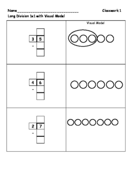 Long Division 1-digit by 1-digit Visual