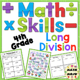Long Division Math Skills Pack