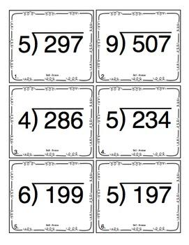 Long Division Math Skills Pack