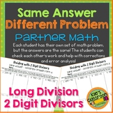 Long Division With 2 Digit Divisors Partner Activity