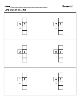 Long Division 2-digit by 1-digit Simplified