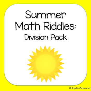 Summer Long Division Math Riddles