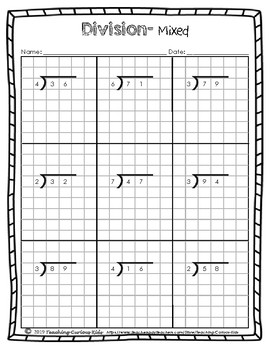 Long Division 2x1 Digits on Graph Paper