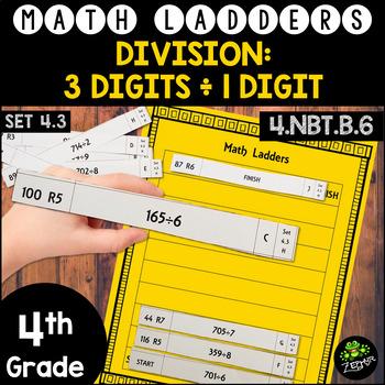 Long Division -  3 Digit Dividends, 1 Digit Divisors - Set 4.3 {Math Ladders}