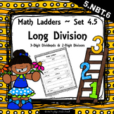 Long Division -  3 Digit Dividends, 2 Digit Divisors - Set 4.5 {Math Ladders}