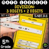 Long Division -  3÷2 Digits - Set 4.5 {Math Ladders & Dist