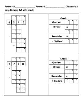 Long Division 3-digit by 1-digit