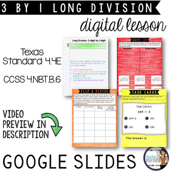 Long Division: 3-digit by 1-digit {Digital Interactive Lesson}