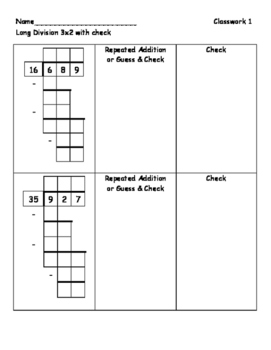Long Division 3-digit by 2-digit