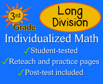 Long Division, 3rd grade - Individualized Math - worksheets