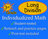 Long Division, 3rd grade - worksheets - Individualized Math