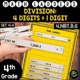 Long Division -  4 Digit Dividends, 1 Digit Divisors - Set