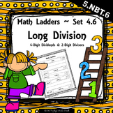 Long Division -  4 Digit Dividends, 2 Digit Divisors - Set 4.6 {Math Ladders}