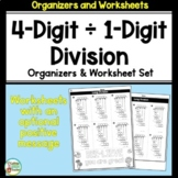 4-Digit by 1-Digit Long Division Organizers and Worksheets