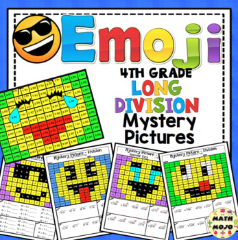Long Division (4th Grade) Emoji Mystery Pictures