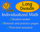 Long Division, 5th / 6th grade - Individualized Math - worksheets