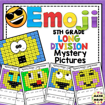 Long Division (5th Grade) Emoji Mystery Pictures