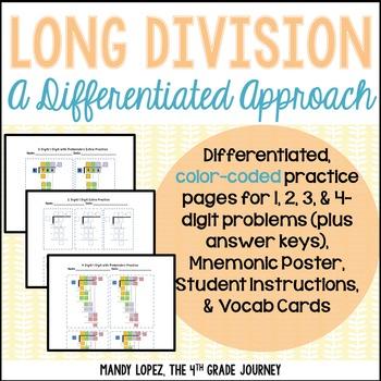 long division a differentiated approach by mandy lopez the 4th grade journey. Black Bedroom Furniture Sets. Home Design Ideas
