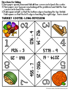 Long Division - A Thanksgiving Cootie Quest