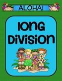 Long Division Activity- Aloha Themed